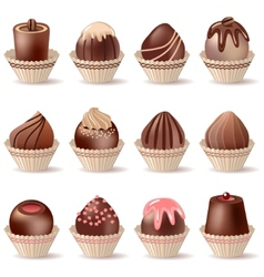 collection of different sweets vector image