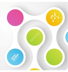color circles infographic Color molecule vector image
