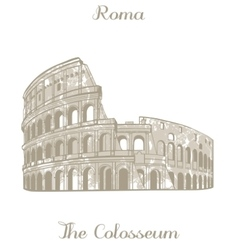 Colosseum vector image