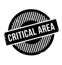 Critical Area rubber stamp vector