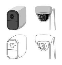 Design cctv and camera sign set cctv vector