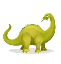 Diplodocus isolated on white Extinct genus of vector image