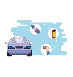 Drive smart campaign label vector