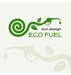 ECO FUEL Symbolic sprout plant spiral and vector