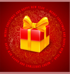 festive christmas greeting design vector image
