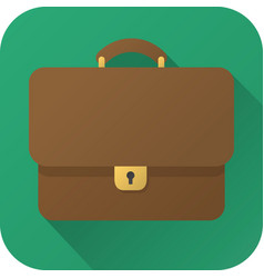 flat icon toy brown leather briefcase vector image