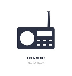 Fm radio icon on white background simple element vector