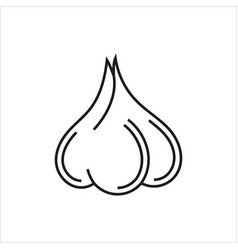 garlic simple icon on white background vector image