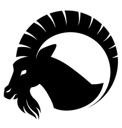 Goat symbol isolated vector