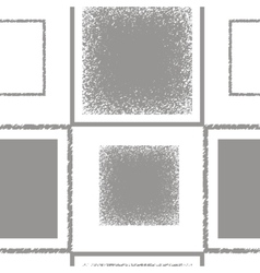 Grey pattern with squares vector image