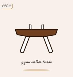 gymnastics horse vector image