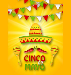 holiday celebration banner for cinco de mayo vector image