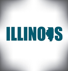 Illinois state graphic vector image