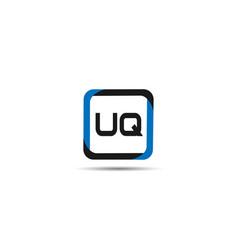 initial letter uq logo template design vector image