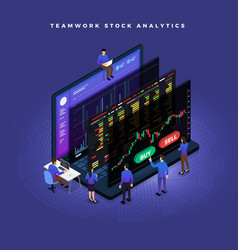 Isometric data analytics vector
