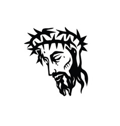 jesus face icon vector image