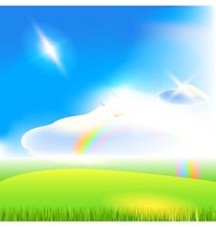 Landscape Blue sky background art vector image