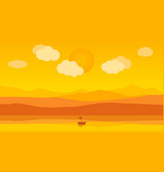 landscape in the evening of the day vector image