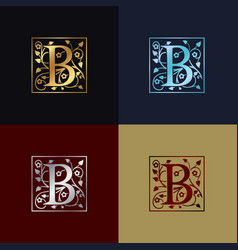 Letter b decorative logo vector