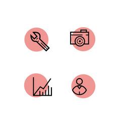 Line icon set for web design vector