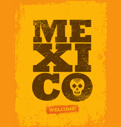 mexico background creative grunge texture vector image vector image