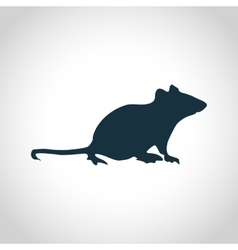 Mouse black silhouette vector