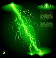 Oblique lightning line vector image