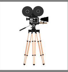 old vintage movie camera isolated old film camera vector image