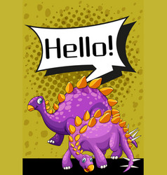 Poster design with two stegosaurus vector