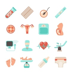 Pregnancy Newborn Icons vector image