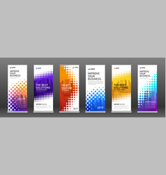 Real estate roll up banners design templates set vector