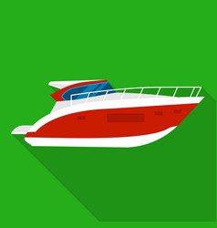 Room boat icon flat style vector