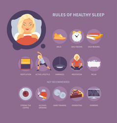 rules of sleep vector image