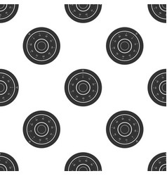 safe combination lock wheel icon seamless pattern vector image
