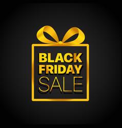 sale box business ribbon confetti black friday vector image