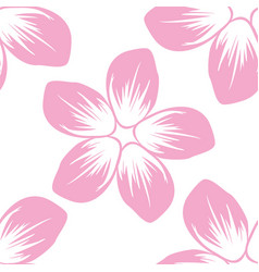 seamless pattern of cordia sebestena flower flat vector image
