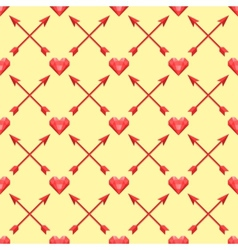 seamless pattern of with polygonal hearts and vector image