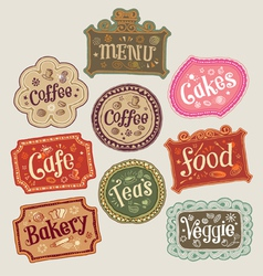 Set of doodle labels vector