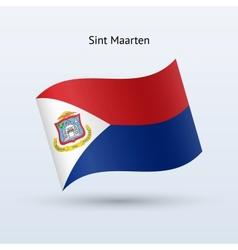 Sint Maarten flag waving form vector