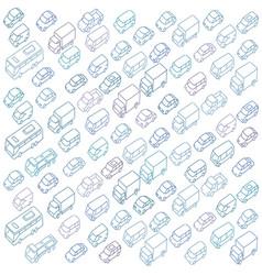 Sketch traffic jam car plug transport highway vector