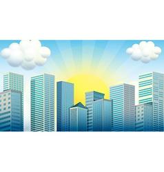 Sky scrapers in the city vector
