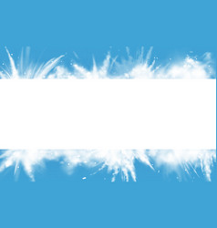 snow powder white explosion rectangle border vector image