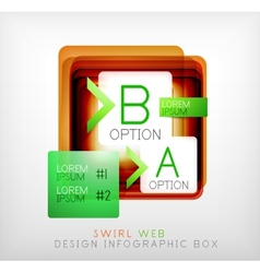 square geometric shaped web design boxes vector image