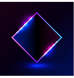 square shape light blue pink frame for promotion vector image