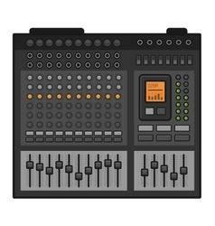 Studio Sound Mixer Music Equalizer Console vector image
