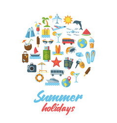 summer holidays flat pattern vector image