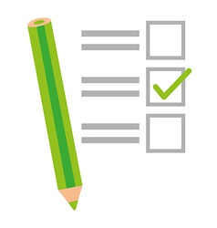 Survey design vector image