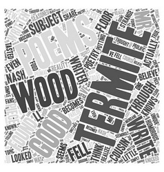 Termite Poems Word Cloud Concept vector