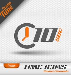 Time Icon 10 Seconds Symbol Design Elements vector image
