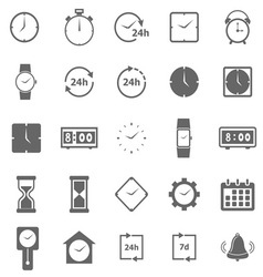 Time icons on white background vector